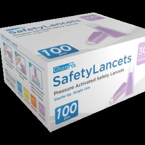 glucorx-30-g-1-6-mm-safety-lancets-100-pack